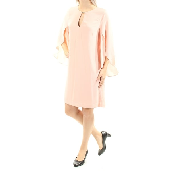 fc004380cac51 Shop JESSICA SIMPSON Womens Pink Cut Out Bell Sleeve Jewel Neck Above The Knee  Shift Dress Size  6 - Free Shipping On Orders Over  45 - Overstock -  21392261