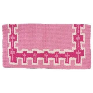 Tough-1 Saddle Blanket Wool Polyester Crosses Woven Design