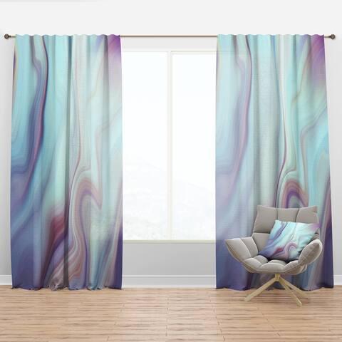 Designart 'Marbled Liquid Agate Colours' Modern Curtain Panel