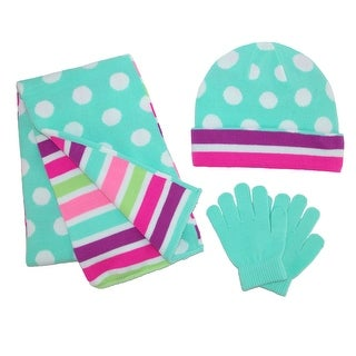 CTM® Girl's Reversible Stripe and Dot Set