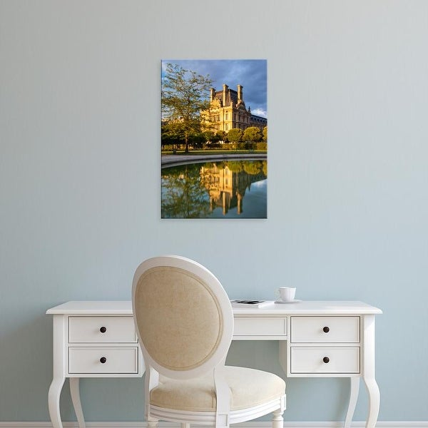 Easy Art Prints Brian Jannsen's 'Setting Sunlight On Musee Du Louvre And Jardin Des Tuileries' Premium Canvas Art