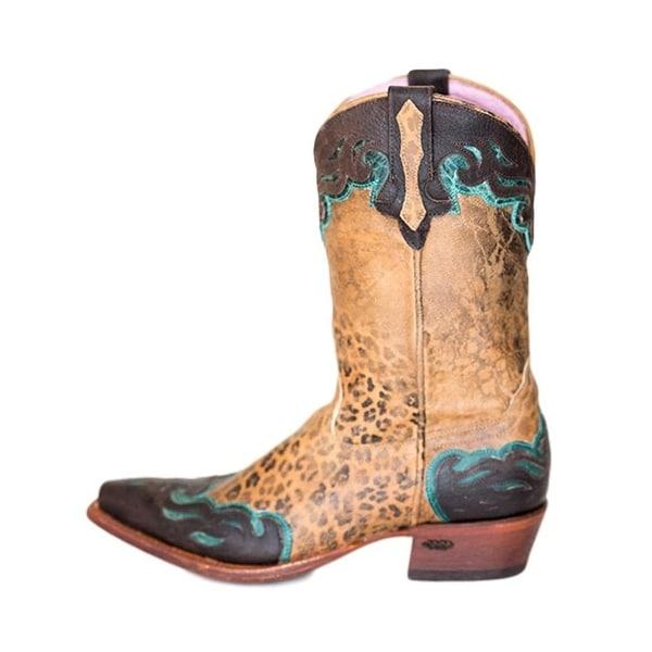 Miss Macie Fashion Boots Womens Hill Rose Snip Leopard Choc