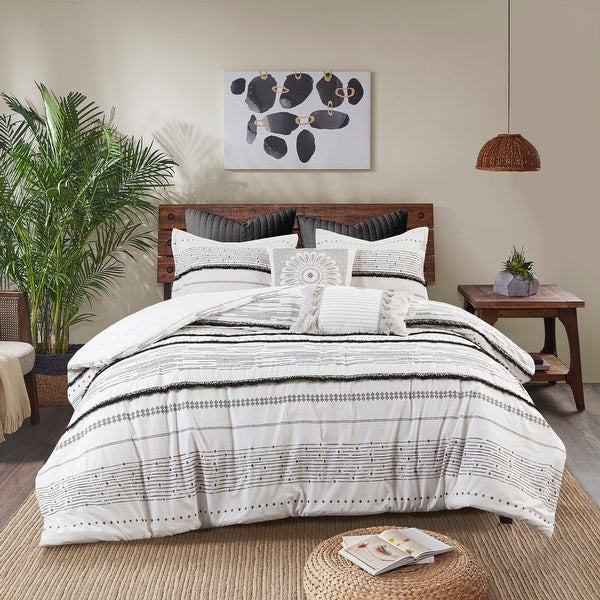 Nea Cotton Printed Comforter Set with Trims by INK+IVY. Opens flyout.