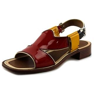 Prada VERNICE RASTA Open Toe Leather Sandals
