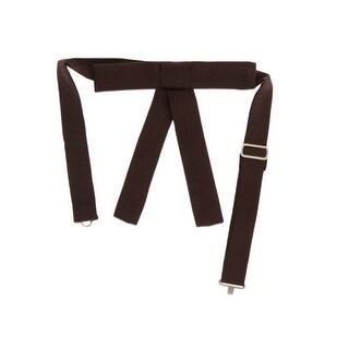 Dsquared² Brown Silk Slim Bowtie - One size