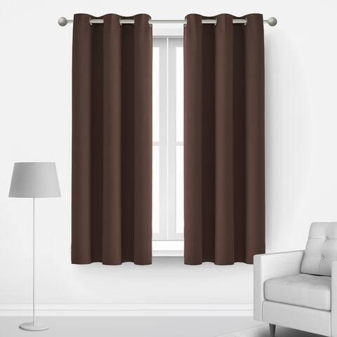 Deconovo Blackout Grommet 42 Width Curtain Panel Pair
