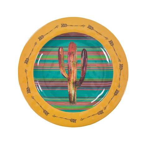 HiEnd Accents Cactus Design Melamine Dinner Plate, 4 PC