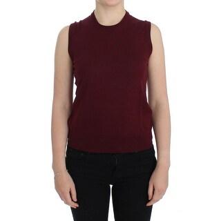Dolce & Gabbana Dolce & Gabbana Red Sleeveless Crewneck Vest Pullover
