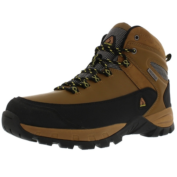 OTAH Forestier Men's Waterproof Hiking Mid-Cut Camel/Black Boots