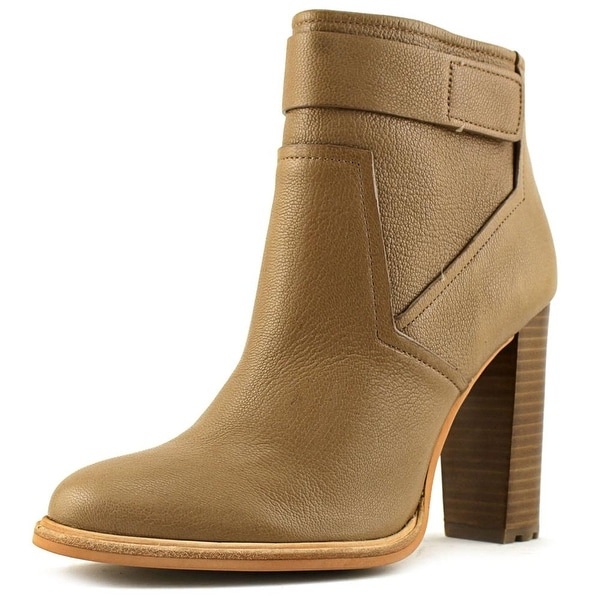 Calvin Klein Jeans Lacina Women Round Toe Leather Tan Ankle Boot