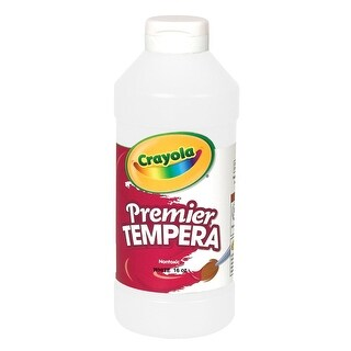 Crayola Premier Non-Toxic Liquid Tempera Paint, 1 qt Squeeze Bottle, White