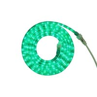 12' Green LED Indoor/Outdoor Christmas Rope Lights - CLEAR