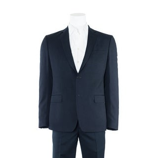 Versace Collection Men's Navy Textured Wool Two Button Suit - 44