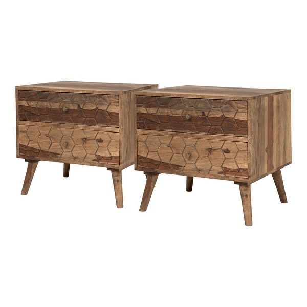 Furniture of America Oli Mid-Century Modern Nightstands (Set of 2)