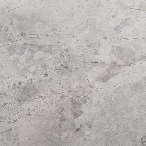 """Emser Tile M06MARB1818 Marble - 18"""" x 18"""" Square Floor and Wall Tile - Polished Marble Visual - Silver"""