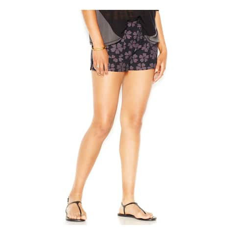 RACHEL ROY Womens Black Pocketed Floral Short Size 4