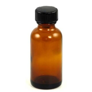 Amber Bottle with Cap 1 oz