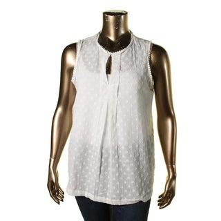 Studio M Womens Pullover Top Pattern Slash Neckline - xL