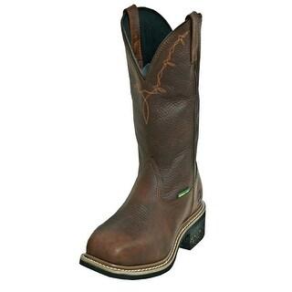 John Deere Work Boots Mens Leather Steel Toe MET Copper Kettle
