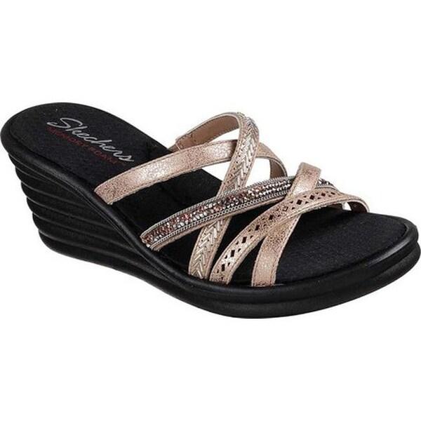 34d018f6016e ... Women s Shoes     Women s Sandals. Skechers Women  x27 s Rumblers Wave  New Lassie Slide Wedge Sandal Rose Gold