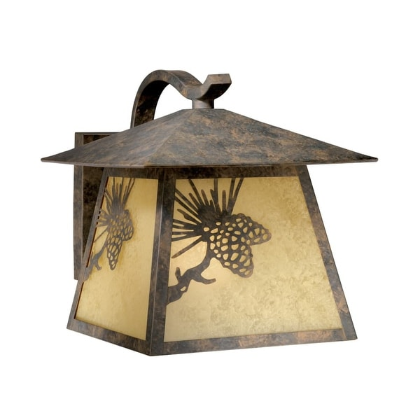 """Vaxcel Lighting OW50513 Whitebark 1-Light Outdoor Wall Sconce - 11"""" Wide - olde world patina - n/a"""