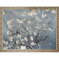 Vincent Van Gogh 'Branches of an Almond Tree in Blossom, Pearl Grey' Hand Painted Oil Reproduction