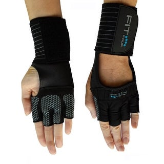 Fit Four The Spartan Grip Fitness Weight Lifting Gloves - Black