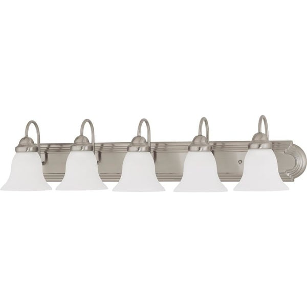 """Nuvo Lighting 60/3282 Ballerina 5 Light 36"""" Wide Vanity Light with Frosted White Glass Shades"""