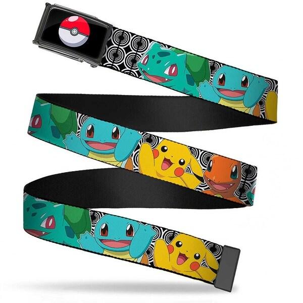 Poke Ball Fcg Chrome Kanto Starter Pokemon & Pikachu Close Up Rings Web Belt