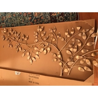 Relatively Stratton Home Decor Brushed Gold Flowing Leaves Wall Decor - Free  AM34