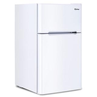 Costway Stainless Steel Refrigerator Small Freezer Cooler Fridge