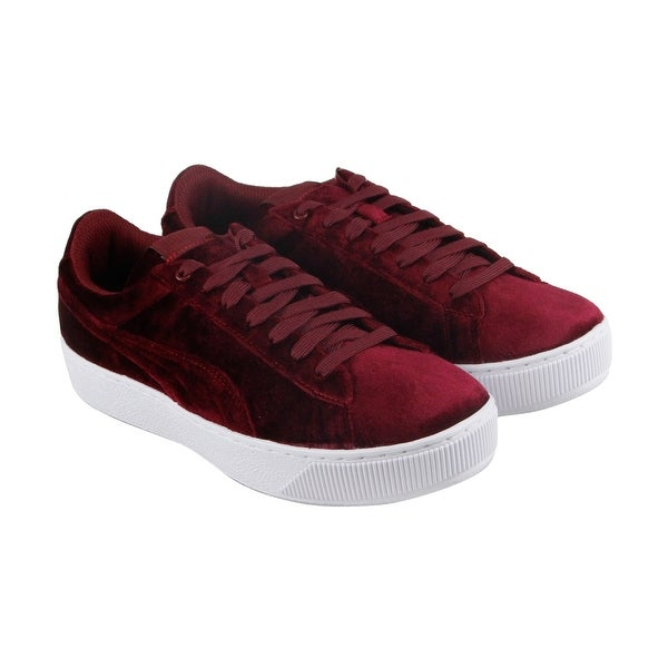 Shop Puma Vikky Platform Vr Bl Womens Red Suede Lace Up Sneakers Shoes - Free  Shipping On Orders Over  45 - Overstock - 21729284 cc984510a