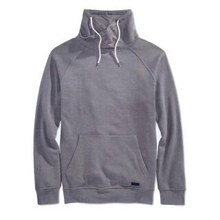 Univibe NEW Gray Mens Size Medium M Fleece Funnel Turtleneck Sweater
