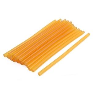 11mmx270mm Heating Gun Hot Melt Glue Adhesive Stick Yellow 20pcs