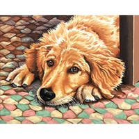 """Dog Tired - Paint Works Paint By Number Kit 11""""X14"""""""