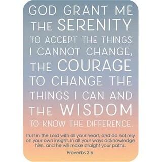 CB Gift 152251 2.5 x 3.5 in. Verse Card - Serenity Prayer