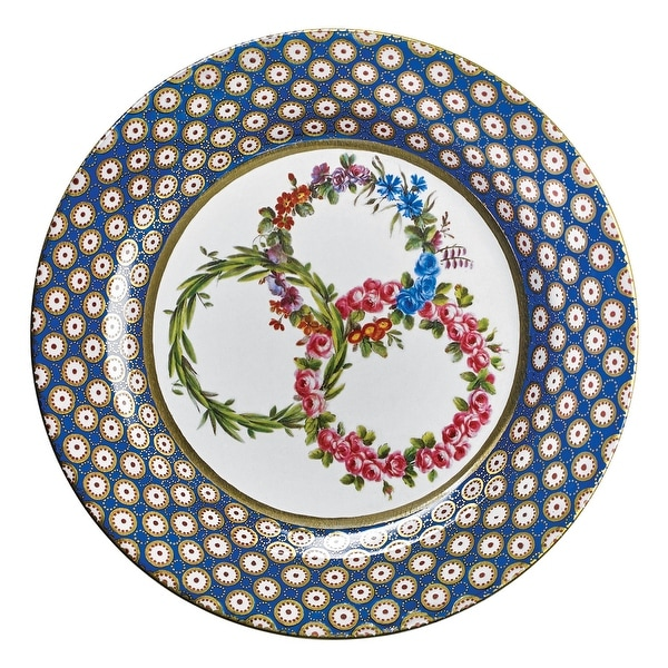 180 Degrees Royalty Tin Plates - 10\  Antique Replicas of Historical Dinnerware  sc 1 st  Overstock.com & 180 Degrees Royalty Tin Plates - 10\