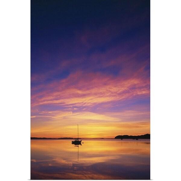 """Chatham, MA, Sunrise on Pleasant Bay"" Poster Print"