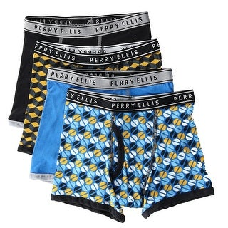 Perry Ellis Boy's Cotton Boxer Briefs Underwear (4 Pair Pack)