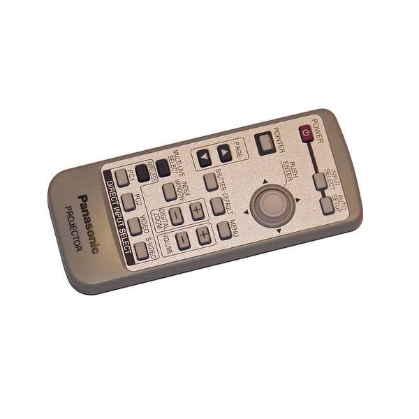 OEM Panasonic Remote Control Originally Shipped With: PTLB50NTU, PT-LB50NTU, PTLB60NTU, PT-LB60NTU