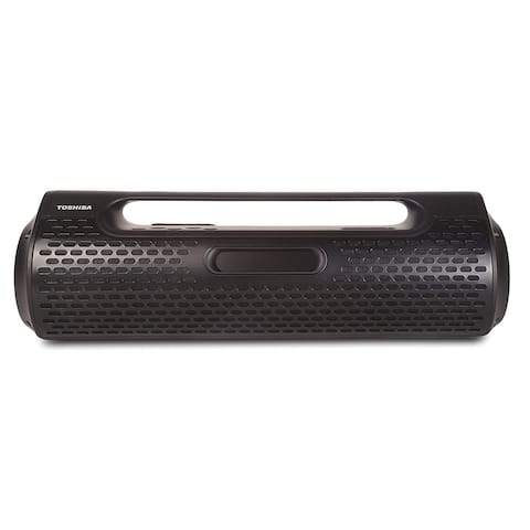 Toshiba Portable Wireless Bluetooth Speaker Rechargeable Boombox with FM Radio and Clock Black - 42.4 x 12.5 x 12.2