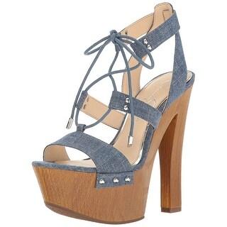 Jessica Simpson Womens Doreena Fabric Open Toe Casual Strappy Sandals