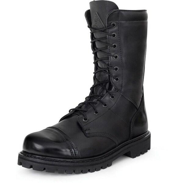 """Rocky Work Boots Mens 10"""" Waterproof Zip Jump Boot Black"""