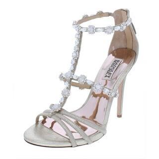 0a21a056d3c0 BADGLEY MISCHKA Womens MP3643 Leather Open Toe Bridal T-Strap Sandals
