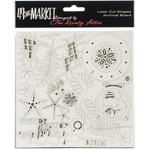 """49 And Market Archival Chipboard 6""""X6""""-Never Stop Exploring"""