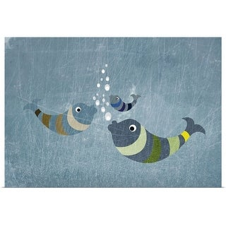 """""""Three fish in water"""" Poster Print"""
