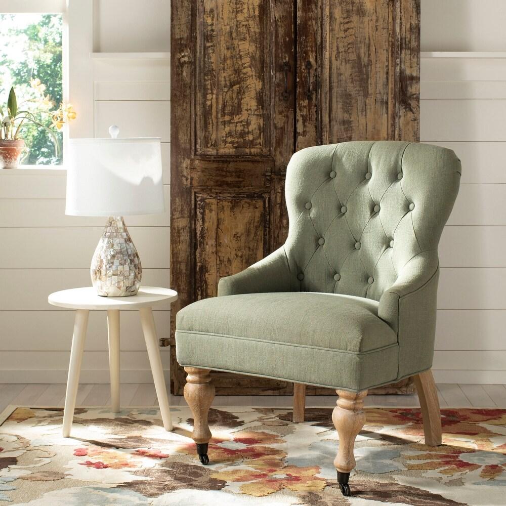 Safavieh Falcon Granite Linen Fabric Arm Chair