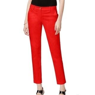 Michael Kors NEW Red Women's Size 2 Flat Front Miranda Skinny Pants