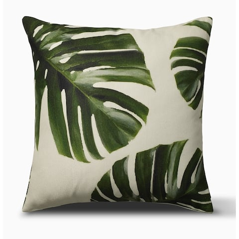 Palm Leaves Indoor Outdoor Decorative Pillow