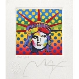 "Liberty Head V, Ltd Ed Lithograph (Mini 3.5"" x 3""), Peter Max"